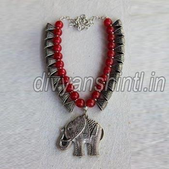 Antique Elephant & Jhumka Pendant