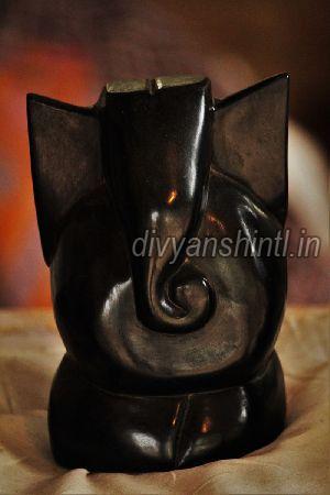 Black Stone Ganesh Statue 02