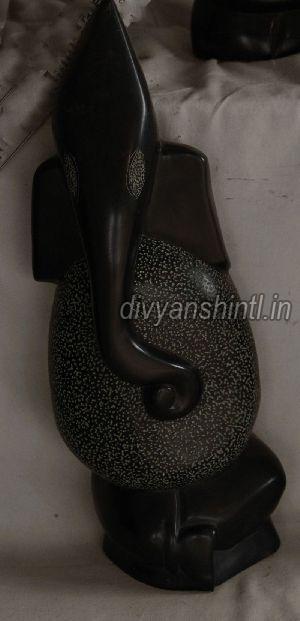 Black Stone Ganesh Statue 08