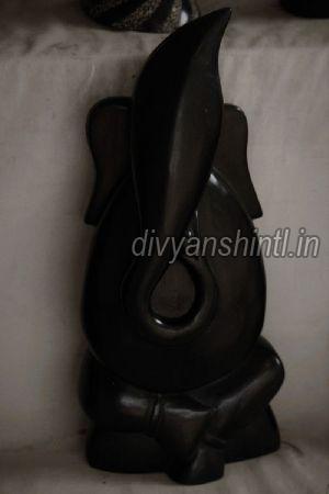 Black Stone Ganesh Statue 09