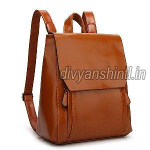 Leather Backpack Bag 02