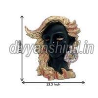 Marble Dust Lady Head Vase
