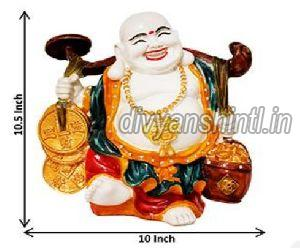 Marble Dust Laughing Buddha Statue 02