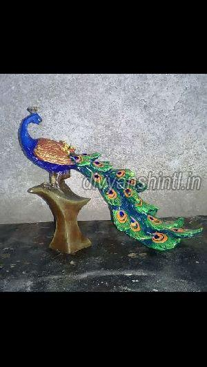 Marble Dust Peacock Statue 01