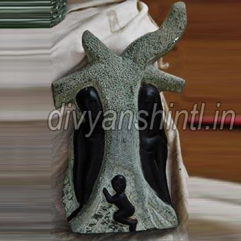 Black Stone Modern Art Statue
