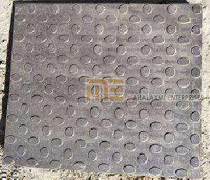 Glossy Finish Bindi Black Parking Tile