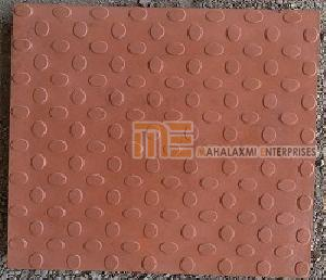 Glossy Finish Bindi Red Parking Tile