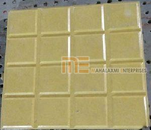 Glossy Finish Sixteen Square Yellow Parking Tile