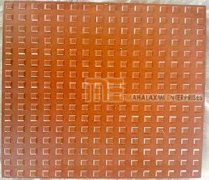 Glossy Finish Square Button Red Parking Tile 01