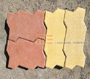 Glossy Finish Zigzag Paver Block