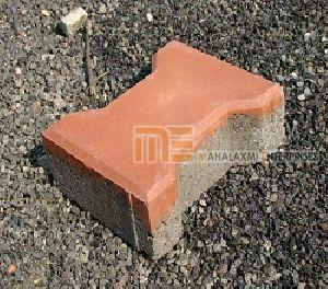 Matt Finish Falcon Red Paver Block