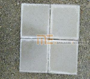 Matt Finish Square Gray Paver Block
