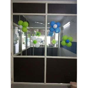 Aluminium Clear Glass Partition