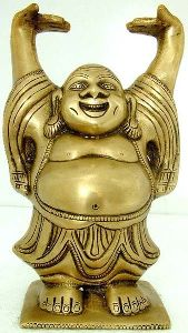 Brass Laughing Buddha Statue