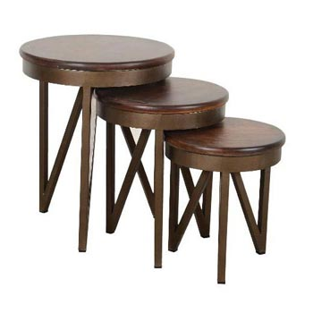 Wooden Nesting Stool Set