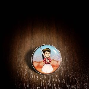 25 mm Printed Pin Juana