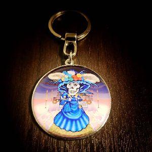 45 mm Catrina  Customized Metal Keychain