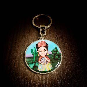 45 mm Frida Customized Metal Keychain