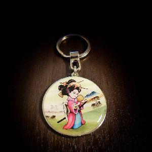 45 mm Geisha Customized Metal Keychain