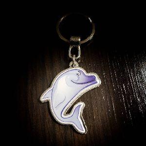 Dolphin Customized Metal Keychain