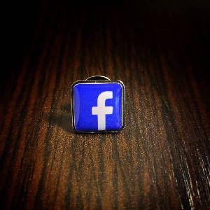 Facebook Printed Badge Pin