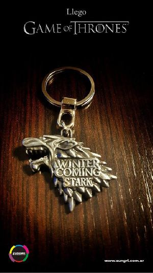 Game Of Thrones 3 Metallic Keychain