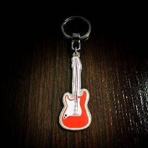 Guitar Customized Metal Keychain