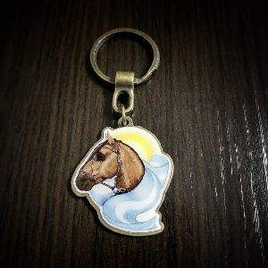 Horse Customized Metal Keychain
