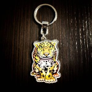 Jaguar Customized Metal Keychain