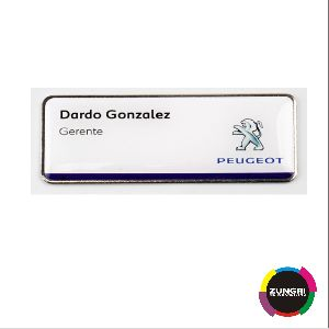 Metalic Name Tag With Magnet