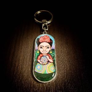 Panoramic Frida Customized Metal Keychain