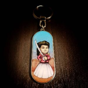 Panoramic Juana Customized Metal Keychain