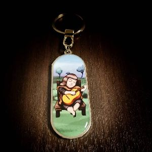 Panoramic Violeta Parra Customized Metal Keychain