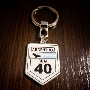 Route 40 Customized Metal Keychain