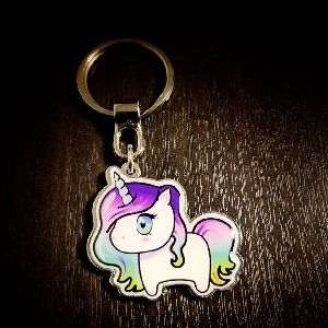 Unicorn Customized Metal Keychain
