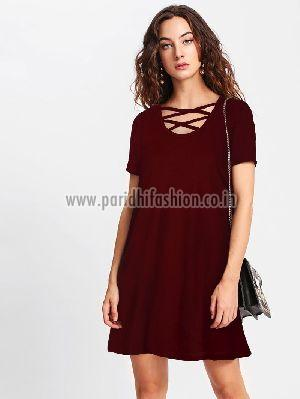 D-211 Isha 12 Maroon Western Dress