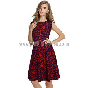 D-226 Fiza Red Western Dress