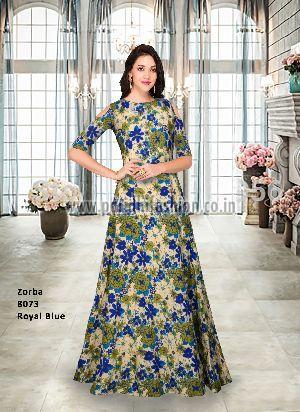 8073 Zorba Blue Gown