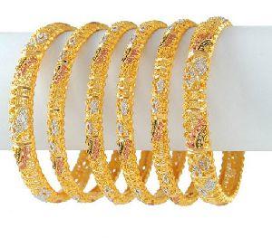 Gold Bangles 09