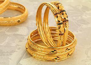 Gold Bangles 18
