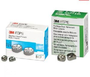 Dental 3M Stainless Steel Primary Molar Crown Set
