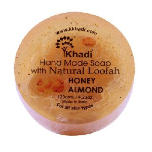 Honey almond loofha soap
