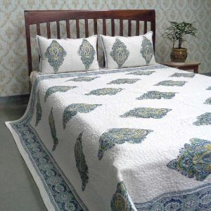 Badi Mohar Printed Queen Size Quilted Bedspread