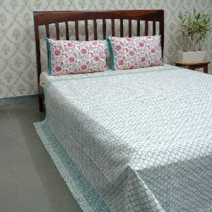 Block Printed QUEEN SIZE Single-Width Kantha