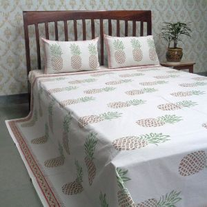 Cotton Block Printed Queen Size Bedspreads