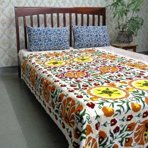 Designer Bedsheet Hand Crafted in Suzani