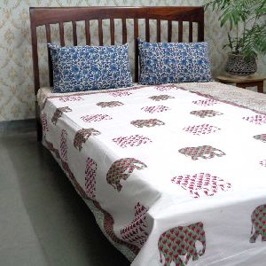 Jaipur Cotton Hand Block Printed Twin size Dohars