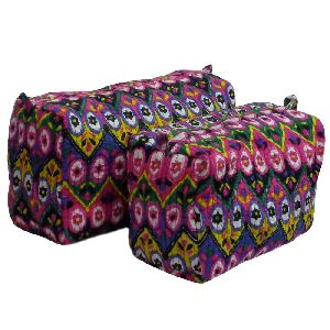 PSYCHEDELIC PINK Quilted Cosmetic Bag
