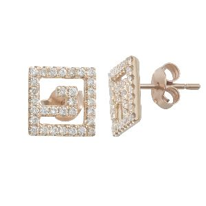 18k gold and diamond stud earrings