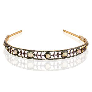 Designer Silver Head Band
